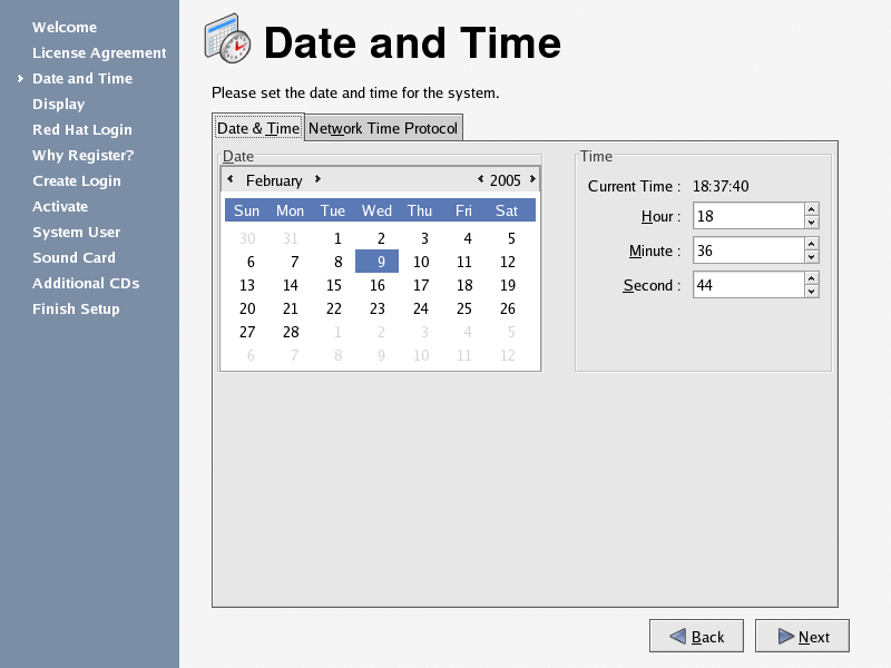 Date and time online