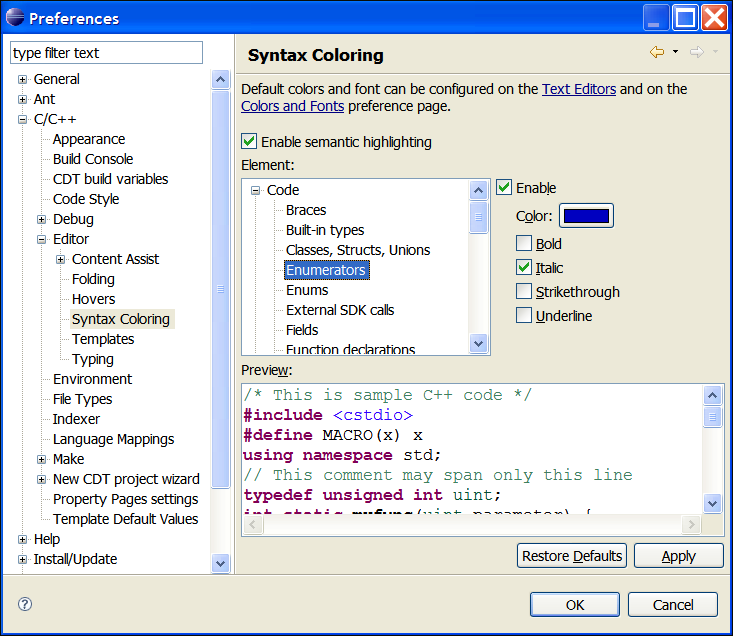 Eclipse c c development guide galileo customizing Best online c ide
