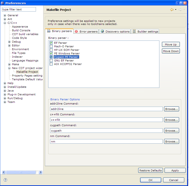 Eclipse c c development guide galileo selecting a Best online c ide