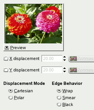 image map coordinates gimp. You can choose working in cartesian coordinates, where pixels are displaced