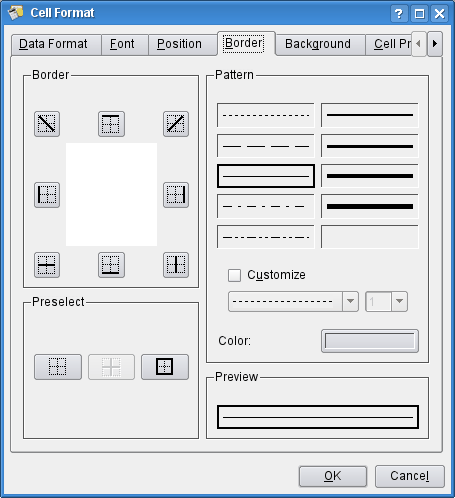 how to add borders to selected cells