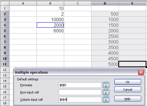 OpenOffice Calc 3 x - Multiple operations in columns or rows