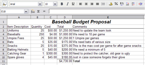 Budget Excel Spreadsheet Template