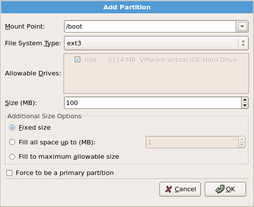 how to add space on a partition arch linux